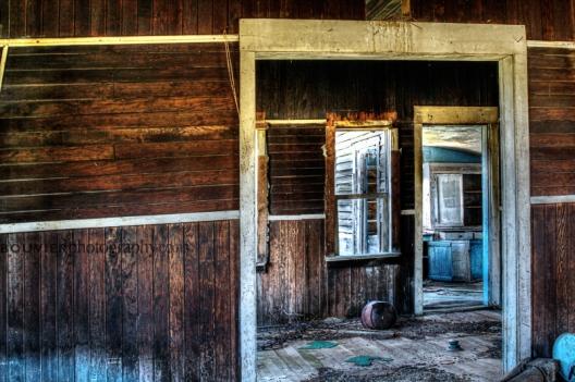 across the doorways