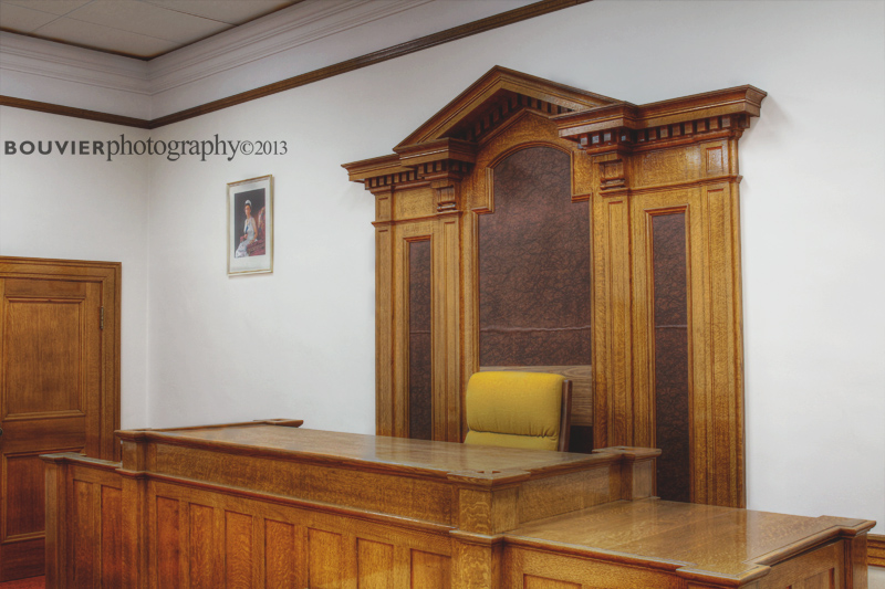 Bench in Gravelbourg's Court Room