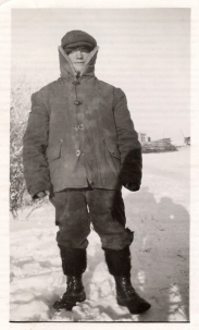 Octavius' first winter in Canada 1921