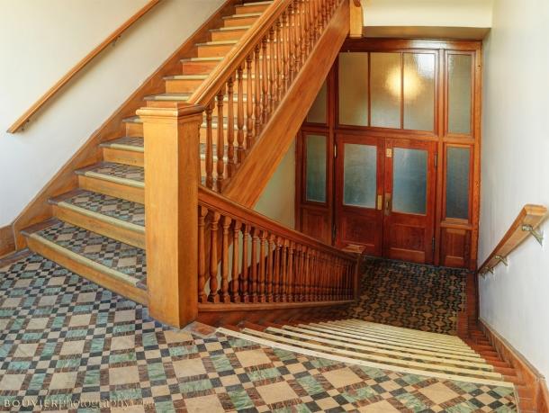 Teacher's stairway from the second floor